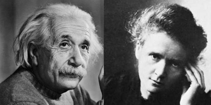 Albert-Einstein-y-Marie-Curie